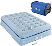 Aerobed Full Size 18 Elevated Bed w/ Roller Bag & Built-in Pump - V32848