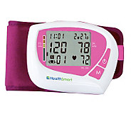 HealthSmart Auto Wrist Digital BP Monitor w/ 60-Reading Memory - V118350