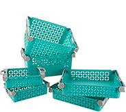 Set of 6 Stackable Decorative Baskets - V35250