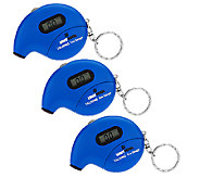 Set of 3 Digital Talking Tire Gauge Keychains w/ Auto Shut-off - V32851
