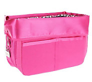 As Is Pursfection Portable Purse Organizer w/ Zipper Closure - V117052