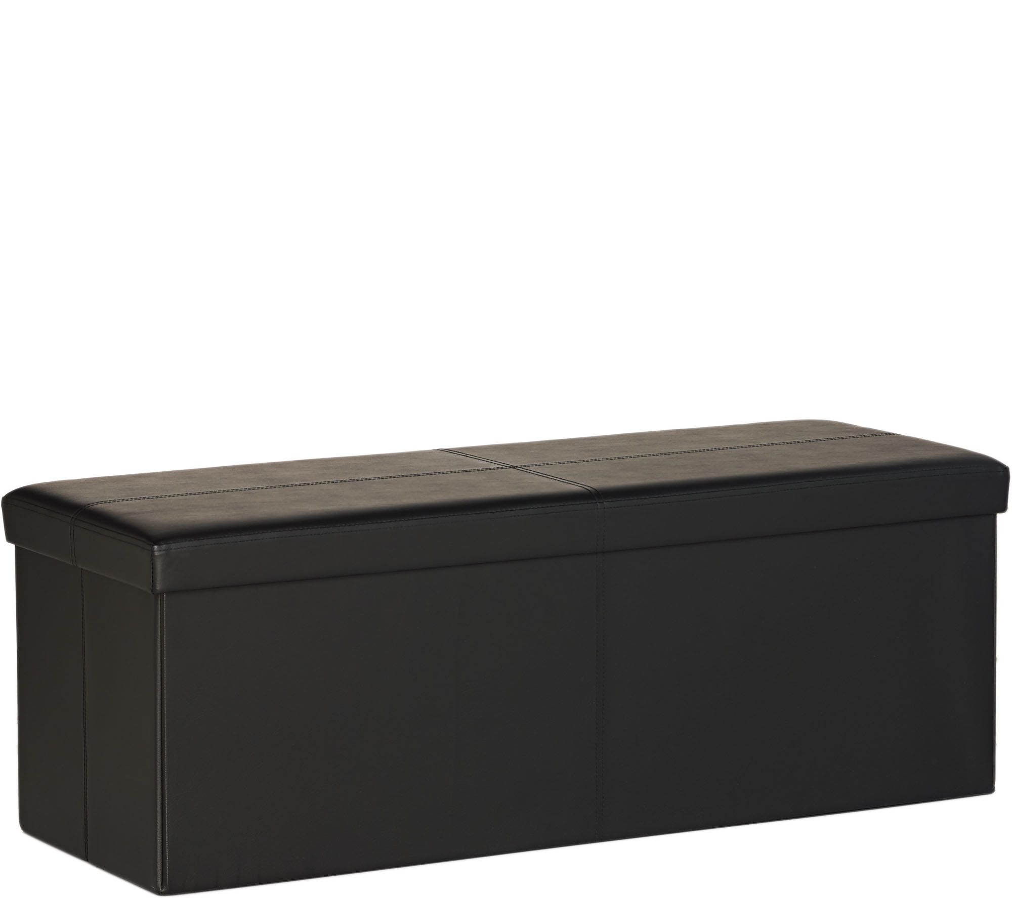 Faux Leather 42 Quot Folding Storage Bench By Fhe Page 1
