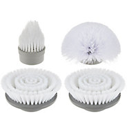 4 Piece Power Scrubber Replacement Scrubber Brush Head Set - V34055