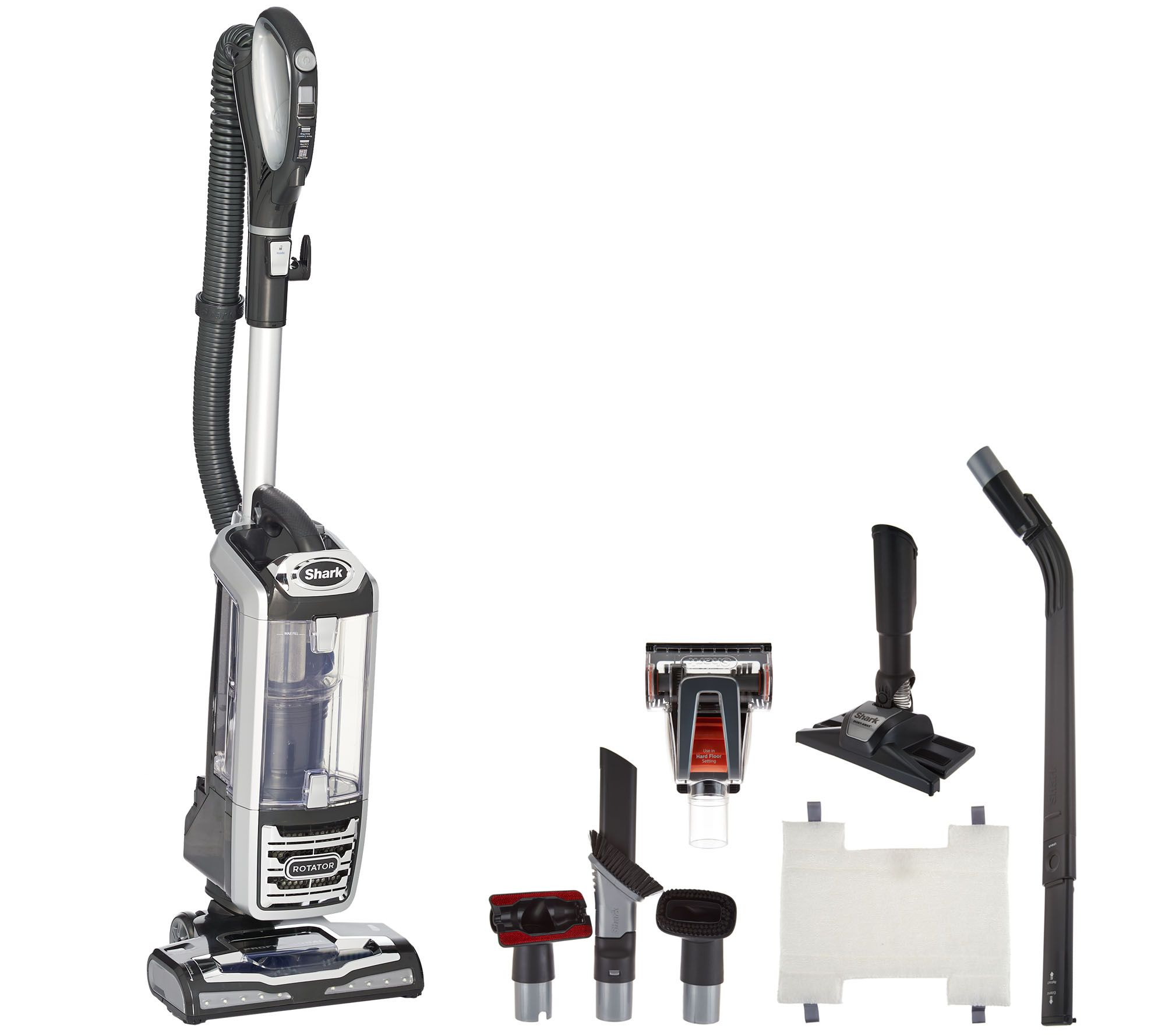 Shark Rotator Powered Lift Away DLX Vacuum With 8 Attachments