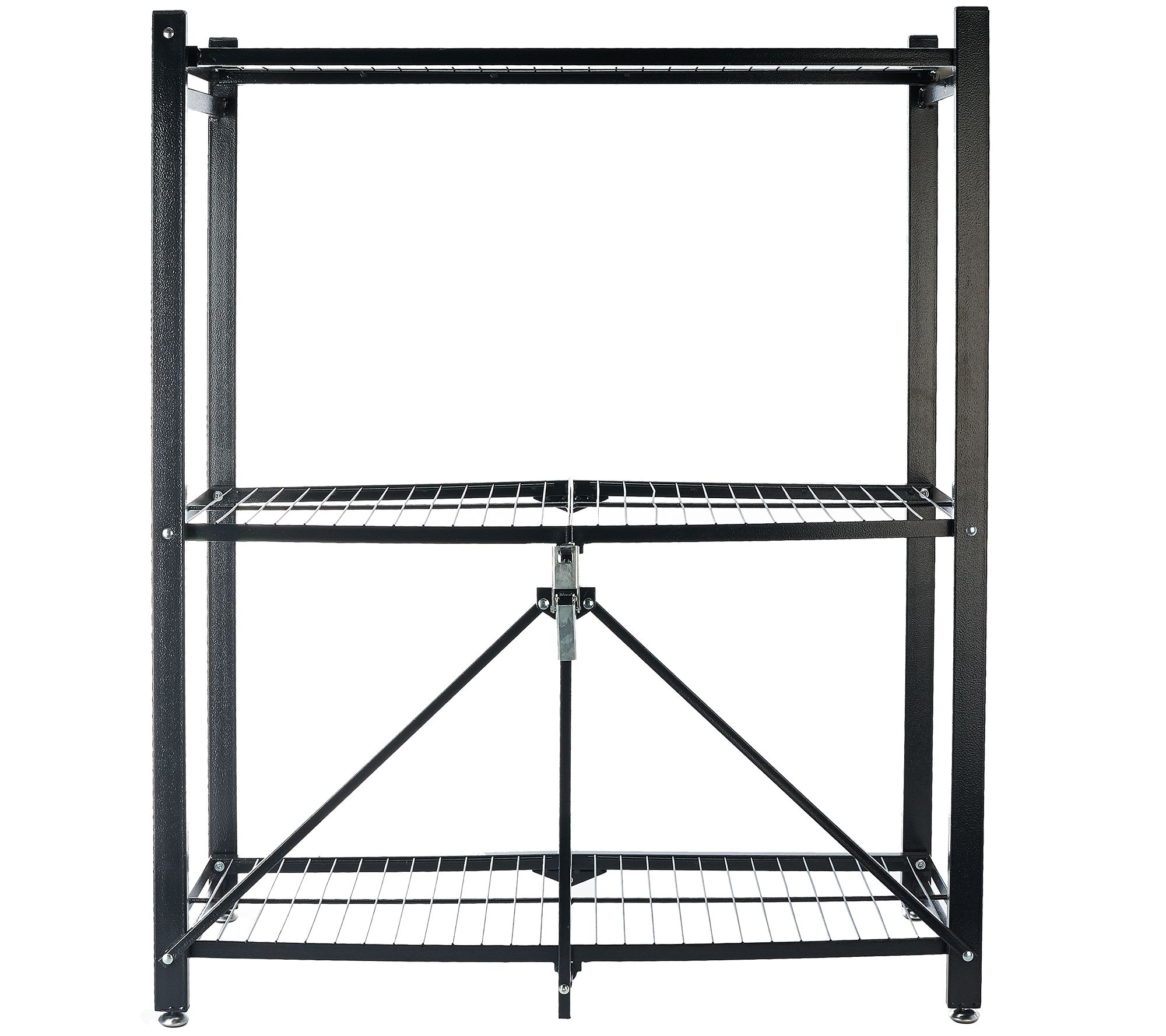 Pop it 3 tier collapsible storage shelf with wheels page 1 qvc jeuxipadfo Choice Image
