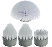 4 Piece Replacement Power Scrubber Cleaning Head Brush Set - V33956