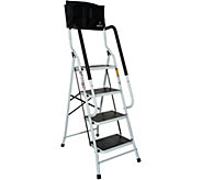 Simple Step Ladder w/ Padded Rails and Caddy - V34756