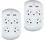 Revolve 3.4 S/2 Surge Protectors w/4 Outlets & 2 USB Ports - V34856