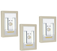 Set of 3 Portable LED Lights with Dimmer Switch - V35558
