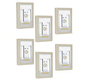 Set of 6 Portable LED Lights with Dimmer Switch - V35559