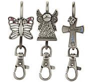 Finders Key Purse Keychain and Handbag Charm - V34460