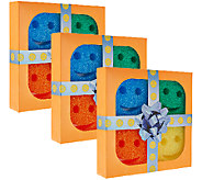 Scrub Daddy Set of (3) Multi-Color 4-piece Sponge Gift Packs - V33761