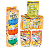 Ships 8/15 Scrub Daddy S/12 Cleaning Sponges w/4 Screen Daddy - V34361