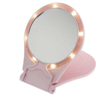 Floxite 10x 1x Lighted Travel Mirror W Stand Page 1