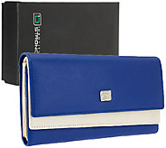 ID Stronghold Two-Tone Leather Clutch Wallet with RFID Protection - V33065