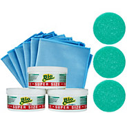 Bio Cleaner Set of 3 Cleaning Clay w/ 6 Microfiber Cleaning Cloths - V34365