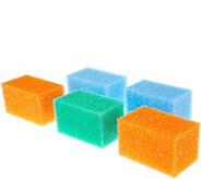 Set of 5 Flex Texture Jumbo Size Cleaning Blocks by Scrub Daddy - V35265