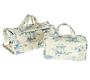 Jill Martin Set of 2 Accessory Cases w/ Removable Pouches - V32668