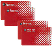 Scanner Guard 2 Sets of 2 RFID Protecting Cards for Wallets - V33068