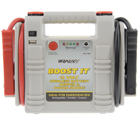 Rally Boost-It Compact Auto Battery Jumpstarter