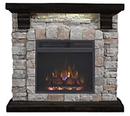 Duraflame Infrared Quartz Stone Mantel Heater with Accent Light - V35071