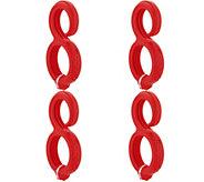 Fusion Brands Set of 4 Flexible Magnetic Go Hooks - V35171