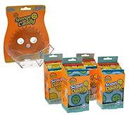 Scour Daddy Set of 12 Scouring Pads w/ Sponge Caddy by Scrub Daddy - V35271