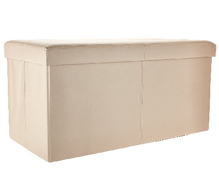 Faux Leather 30 Folding Storage Bench