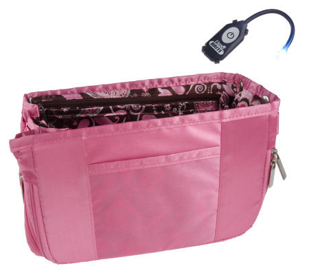 Pursfection Deluxe Expandable Purse Organizer with LED Light