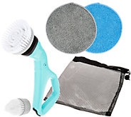 6-Piece Compact Cordless Power Scrubber with Cleaning Attachments - V34575