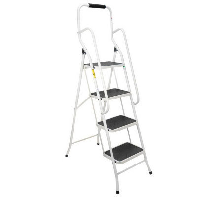 EZ Tools Safety Step Ladder with Handrails & Comfort Step