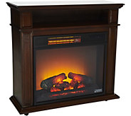 Duraflame 23 Rolling Mantel Heater with Media Storage Shelf - V35077