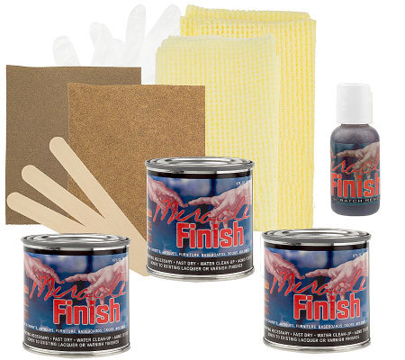 Miracle Finish Wood Stain Refinishing and Restoration Kit
