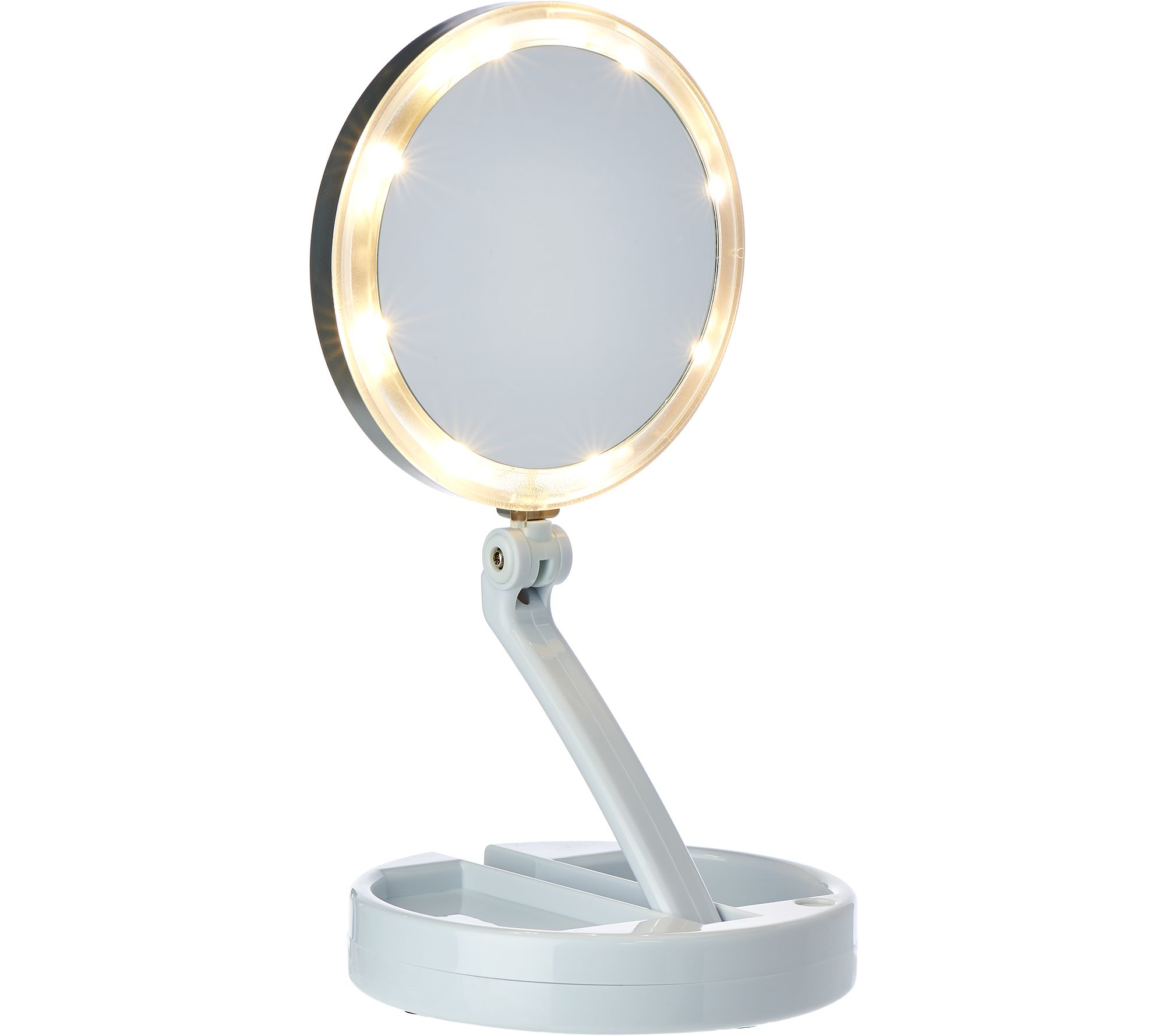 Floxite 10x 1x Lighted Folding Vanity And Travel Mirror