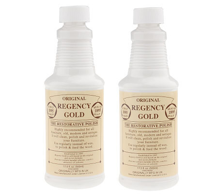 Regency Gold Set of 2 Woodcare Polishes