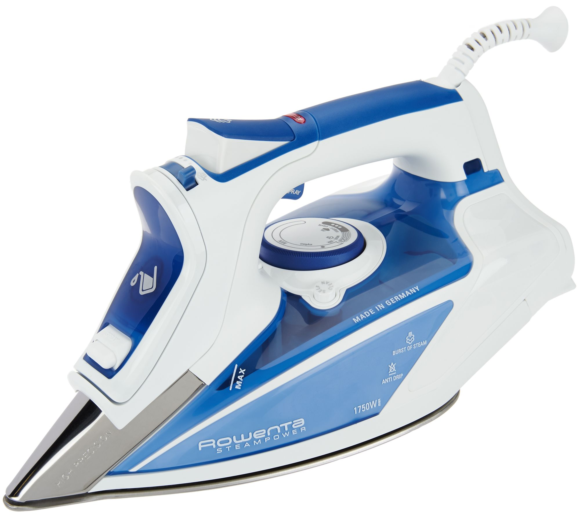 Cleaning rowenta pressure iron and steamer - Rowenta Steam Power 1750w Iron W Precision Tip Soleplate Page 1 Qvc Com