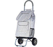Trolley Dolly 2-in-1 Folding Cart w/Carry Strap & Dolly - V34084