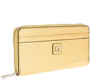 LODIS Zip-Around Italian Leather RFID Wallet - V33086