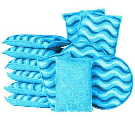 12-Piece Microfiber Sponge Set by Campanelli Products ...