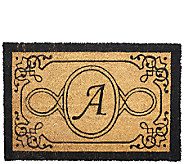 Handcrafted Monogrammed Initial 2x3 Rectangle Coco Doormat - V33088