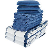 Don Asletts 12 Piece Microfiber Sponge, Cloth & Dish Towel Set - V34588