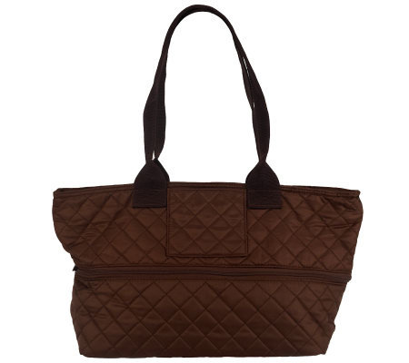 Pursfection Expandable Quilted Fabric Tote Bag