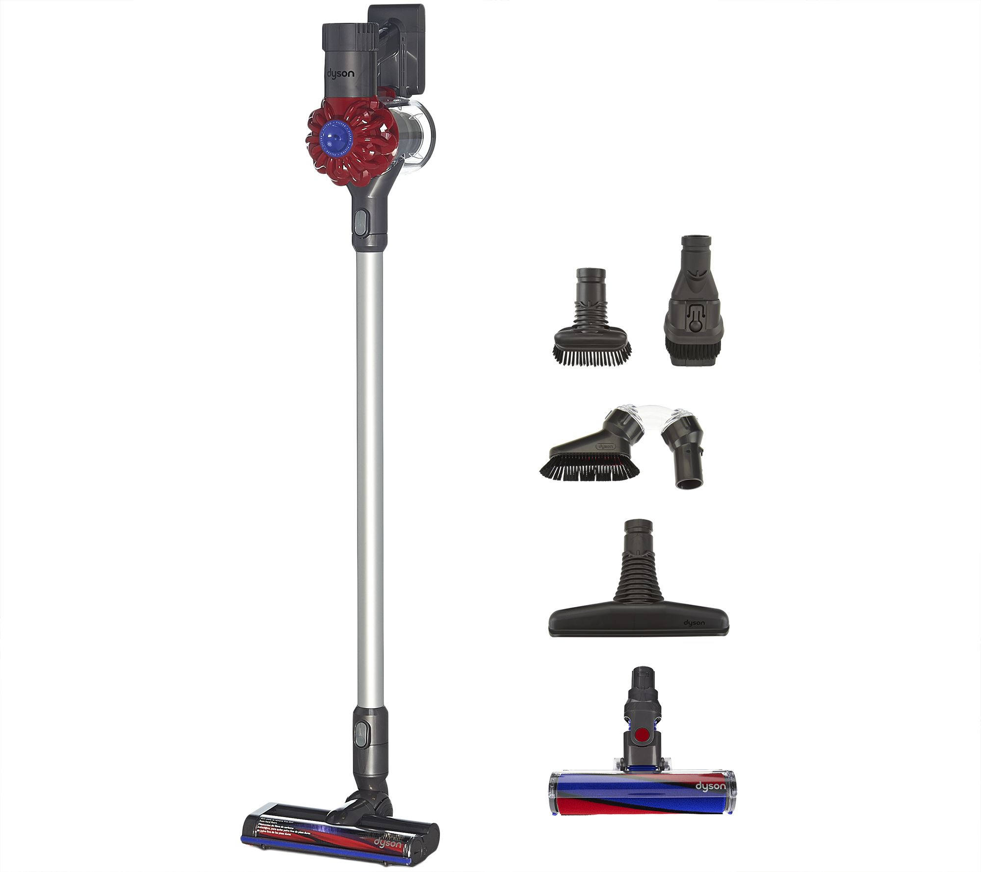 dyson v6 cordfree vacuum with fluffy head 5 attachments. Black Bedroom Furniture Sets. Home Design Ideas