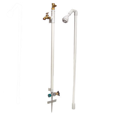 Stick-it-Spigot Portable Outdoor Faucet & Shower System