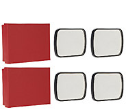 SecureAuto 2 Sets of 2 Blind Spot Mirrors with Gift Boxes - V33092