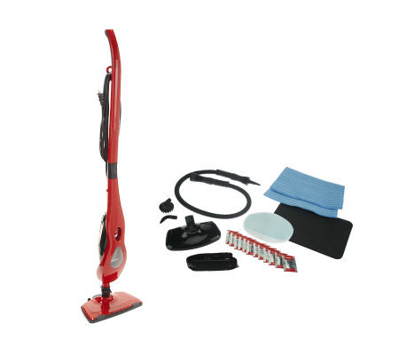 Haan Power- Steam Cleaner w/ Handheld & 2 Microfiber Pads & Attachments