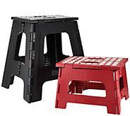 Kikkerland Large & Small Easy-Fold & Easy-Store Step Stools - V33793