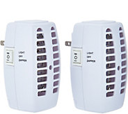 Set of 2 Plug-In Bug Zappers with Night Light Setting - V34693