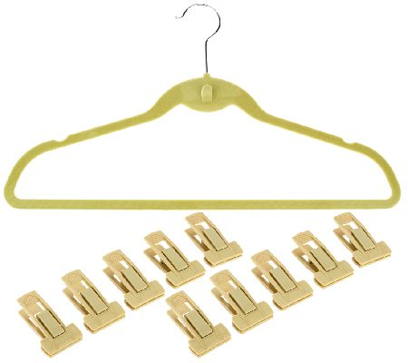 ClutterFree Set of 60 Cascading Hangers w/ 10 Pant Clips