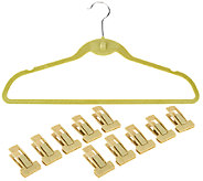 ClutterFree Set of 60 Cascading Hangers with 10 Pant Clips - V33194